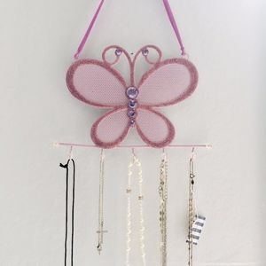 Other - Purple Butterfly Jewelry Holder